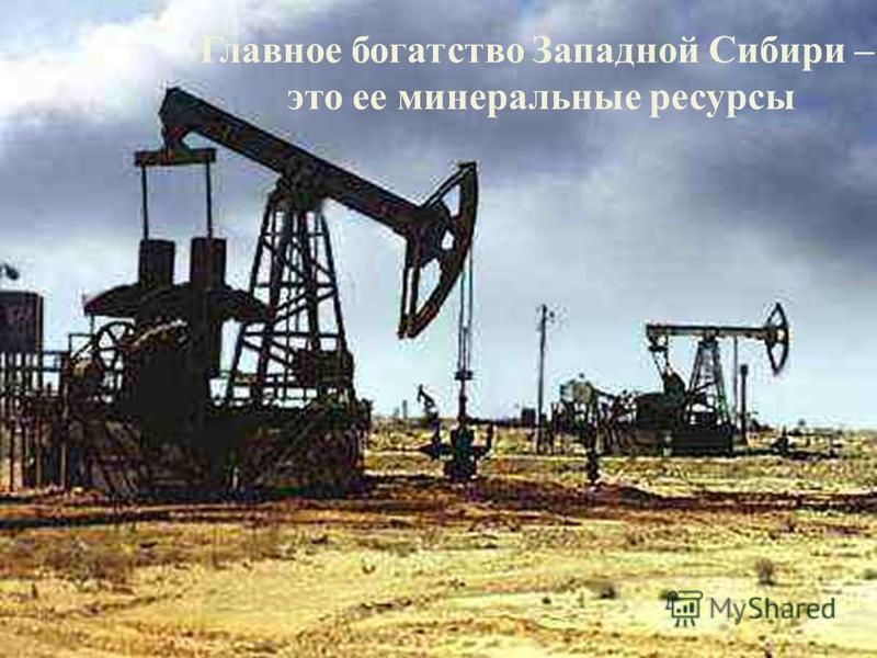 Главное богатство Западной Сибири – это ее минеральные ресурсы