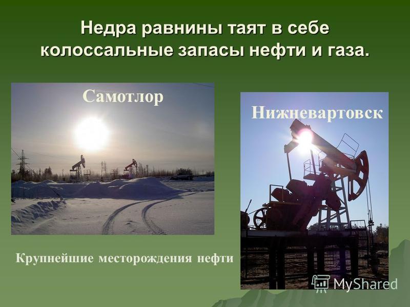 Недра равнины таят в себе колоссальные запасы нефти и газа. Самотлор Нижневартовск Крупнейшие месторождения нефти