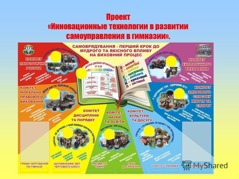 Проект «Инновационные технологии в развитии самоуправления в гимназии».