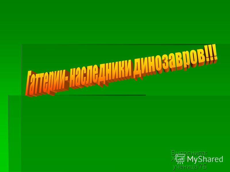 Выполнила: Хренова Дарья ученица 7Б ученица 7Б