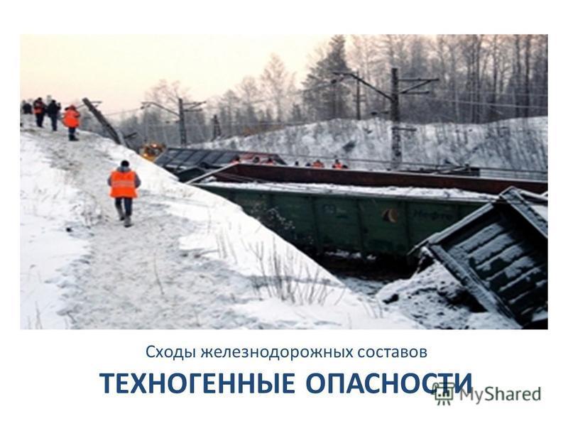 ТЕХНОГЕННЫЕ ОПАСНОСТИ Сходы железнодорожных составов