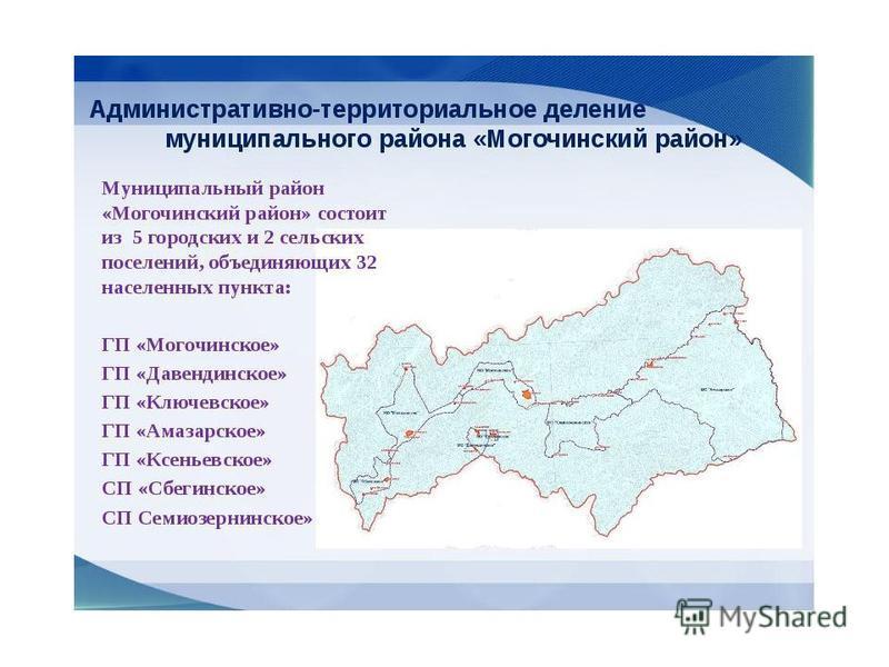 Состав Могочинского района