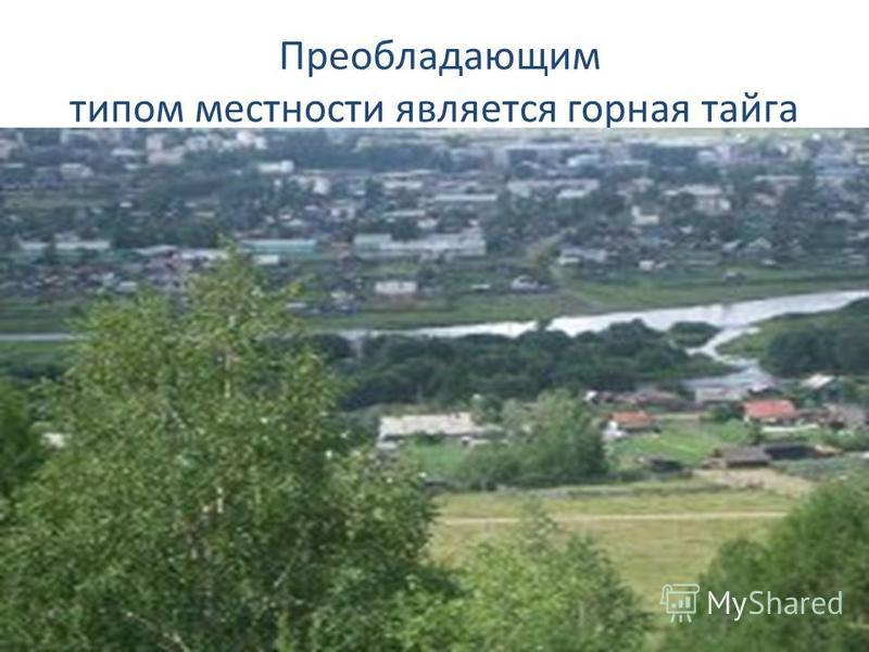 Преобладающим типом местности является горная тайга