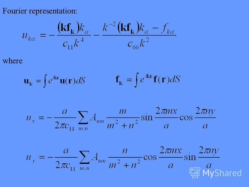 Fourier representation: where