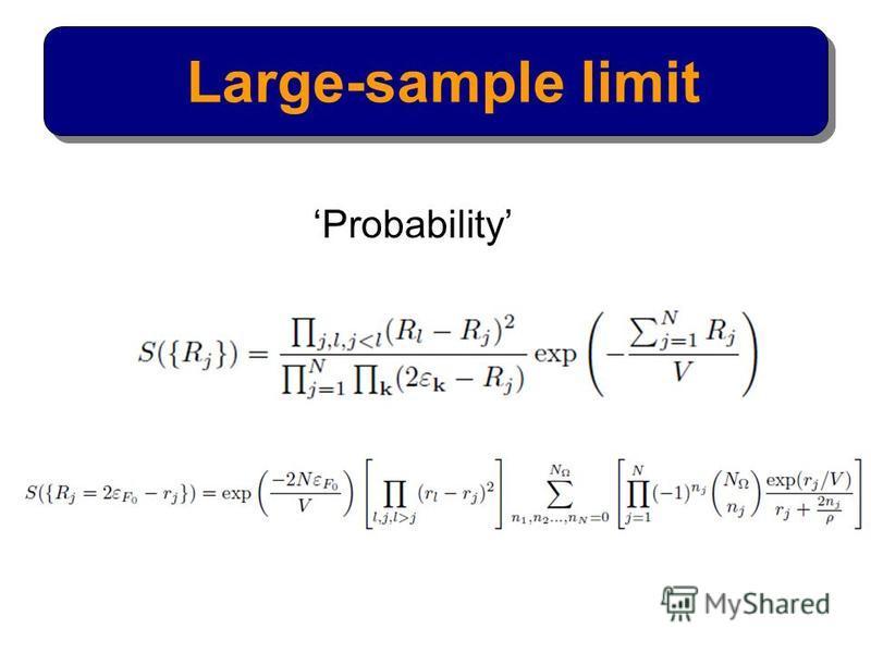 Large-sample limit Probability