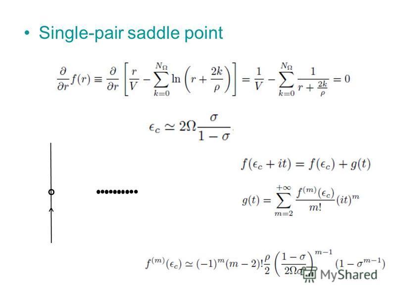Single-pair saddle point