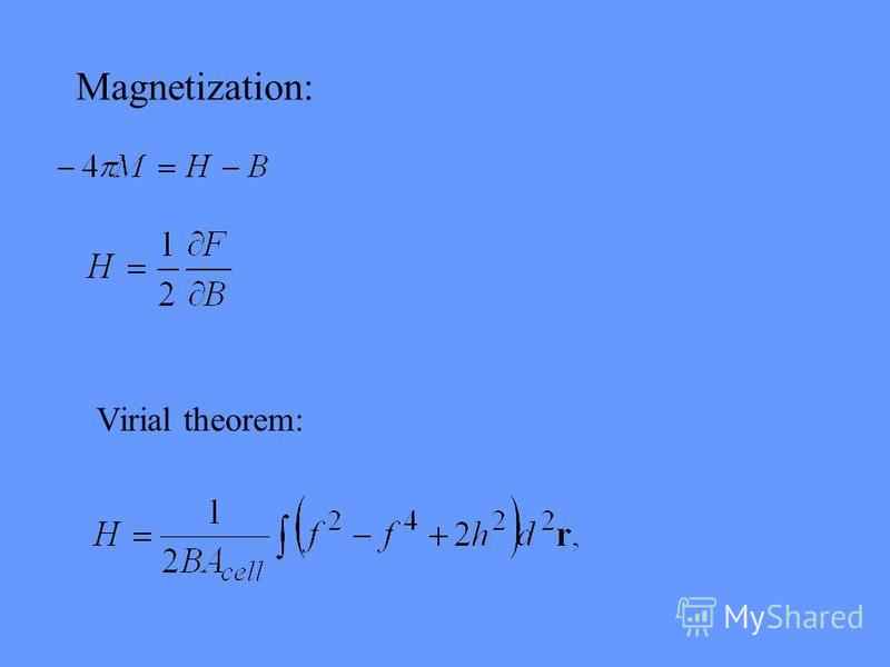 Virial theorem: Magnetization: