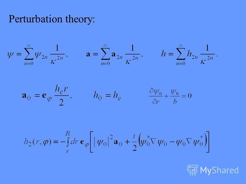 Perturbation theory: