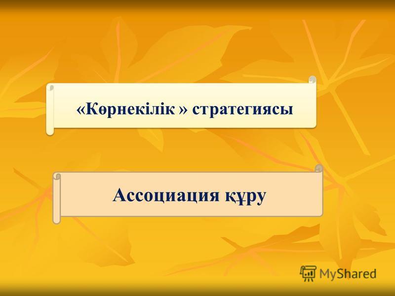 Ассоциация құру «Көрнекілік » стратегиясы