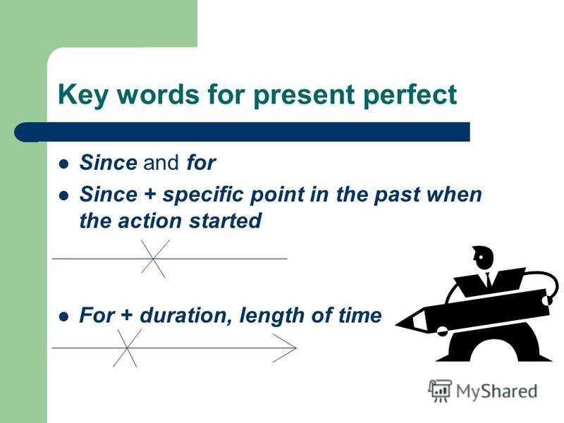 Key words for present perfect Before = at some time in the past behind the present time I have been to Las Vegas before. Several times, many times, a few times, a couple of times, a lot of times = for indefinite or repeated past actions