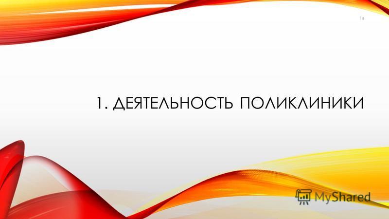 1. ДЕЯТЕЛЬНОСТЬ ПОЛИКЛИНИКИ 14