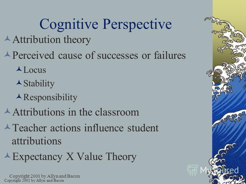 Cognitive Perspective Focus on thinking Emphasizes intrinsic motivation People are active and curious Plans, goals, schemas, and expectations