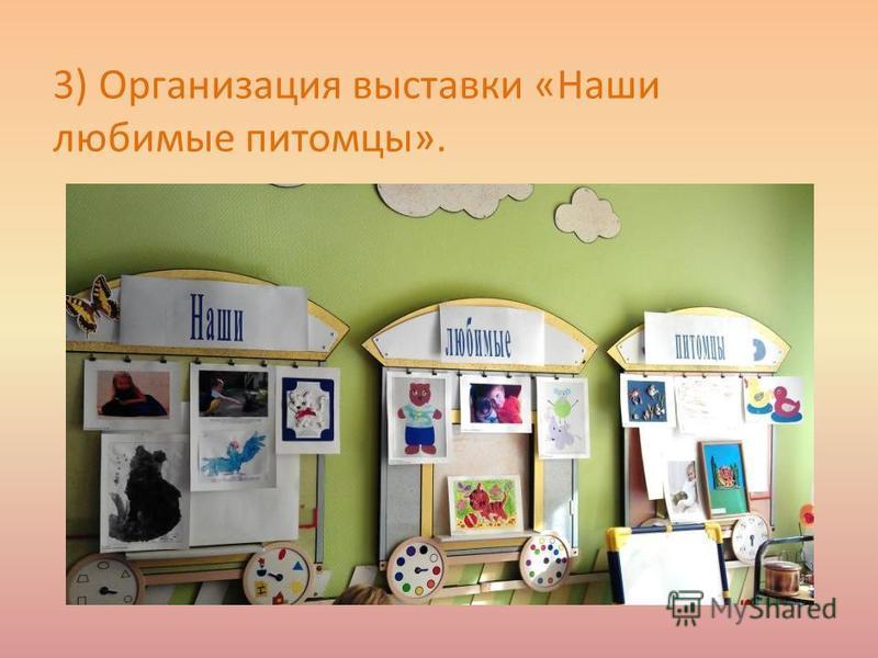 3) Организация выставки «Наши любимые питомцы».