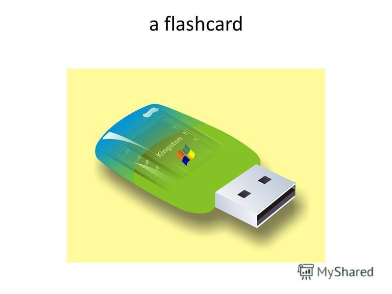 a flashcard