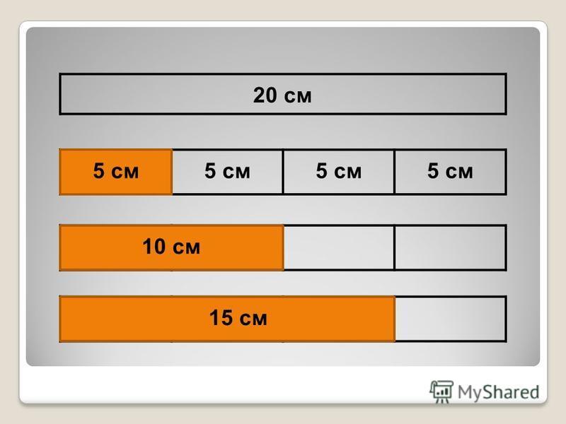 20 см 5 см 15 см 10 см