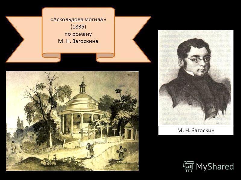 М. Н. Загоскин «Аскольдова могила» (1835) по роману М. Н. Загоскина