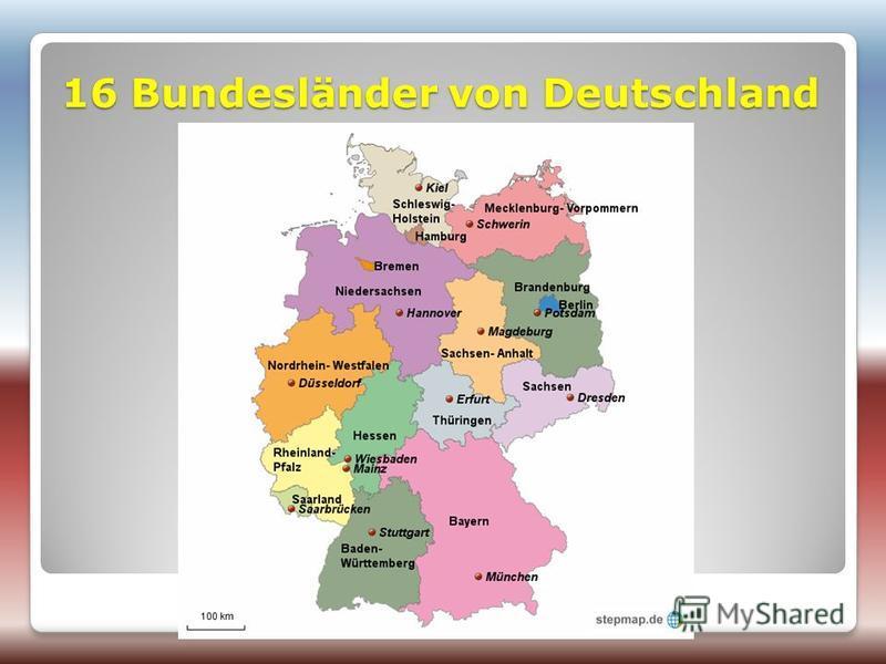 16 Bundesländer von Deutschland