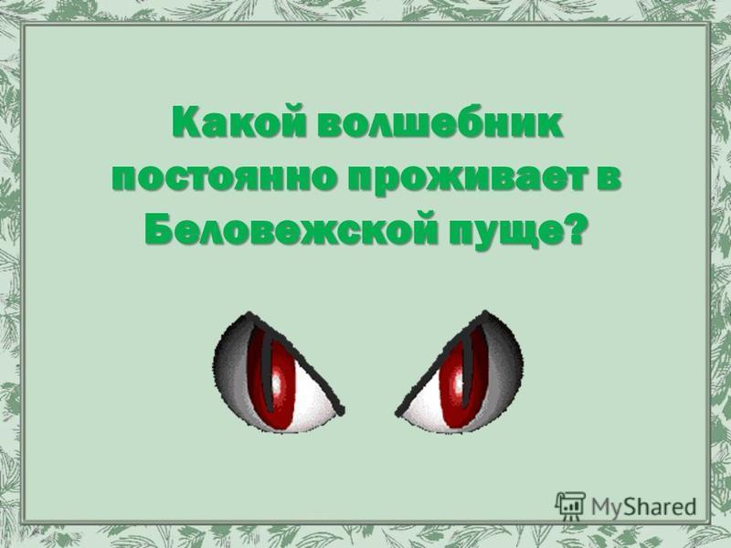 Какой волшебник постоянно проживает в Беловежской пуще?