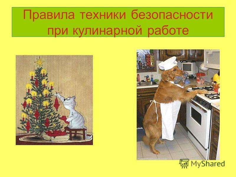 Правила техники безопасности при кулинарной работе