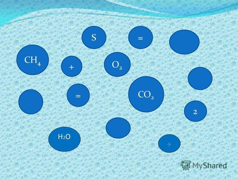 =S CH 4 + O2O2 = CO 2 2 + Н2ОН2О