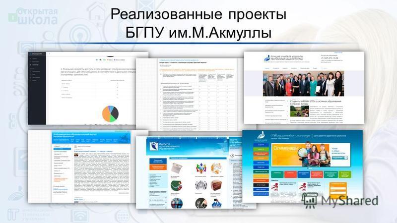 Реализованные проекты БГПУ им.М.Акмуллы