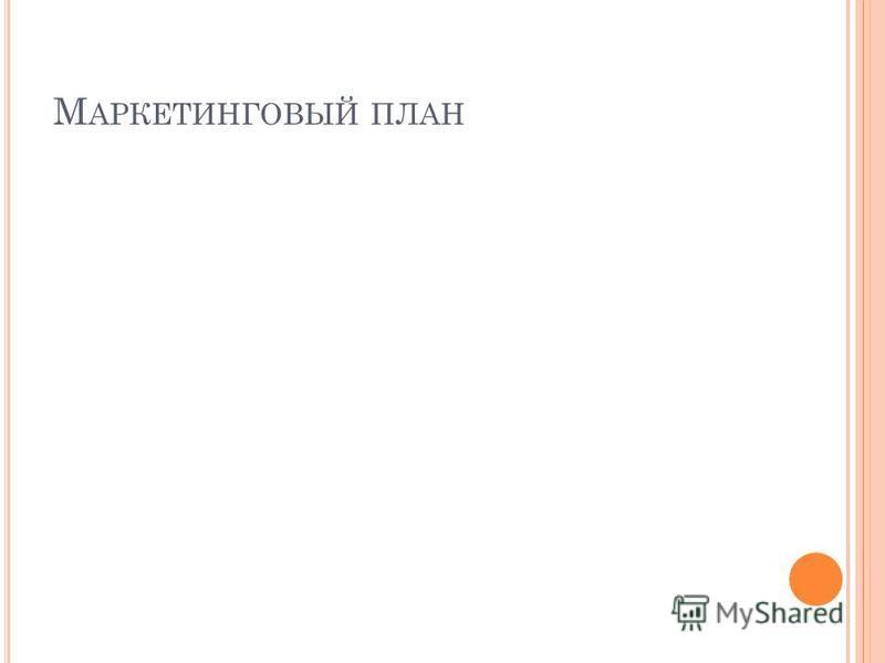 М АРКЕТИНГОВЫЙ ПЛАН