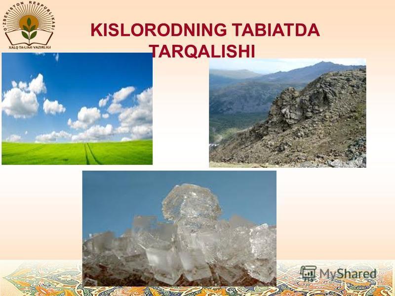 KISLORODNING TABIATDA TARQALISHI
