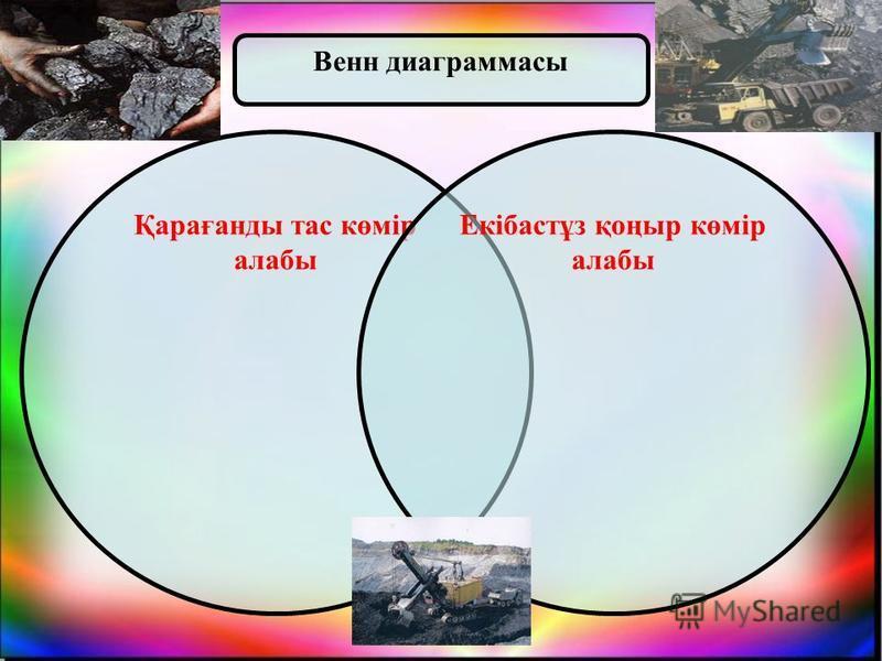 Қарағанды тас көмір алабы Екібастұз қоңыр көмір алабы Венн диаграммасы