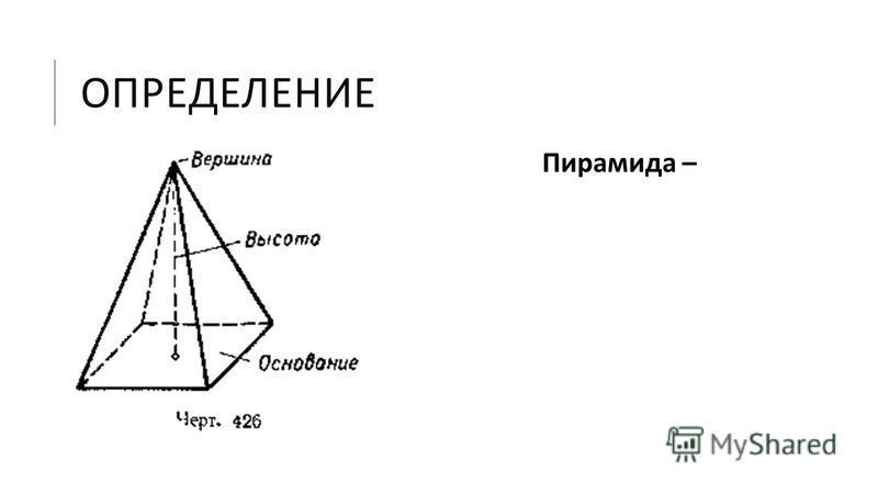 ОПРЕДЕЛЕНИЕ Пирамида –