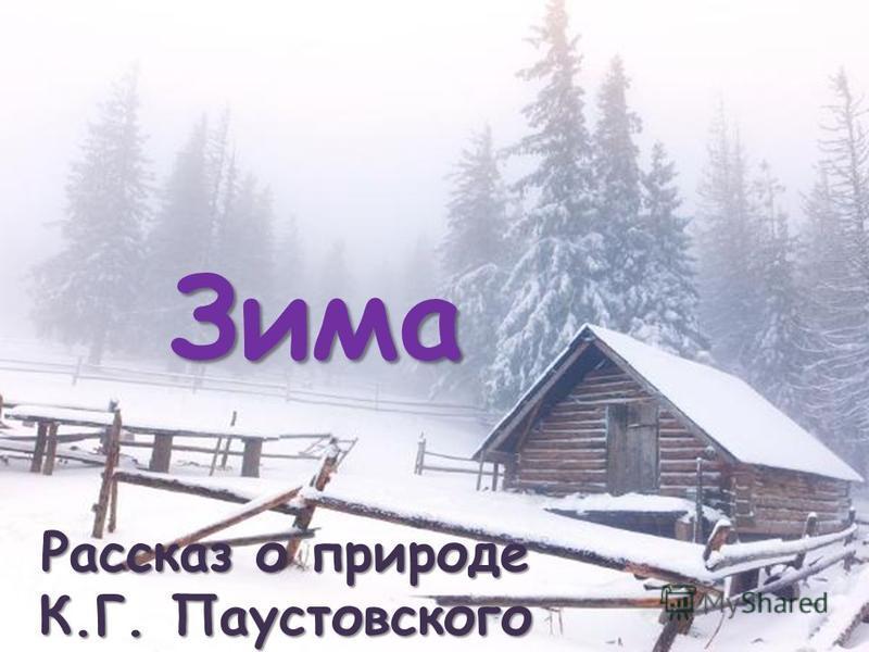 Зима Рассказ о природе К.Г. Паустовского