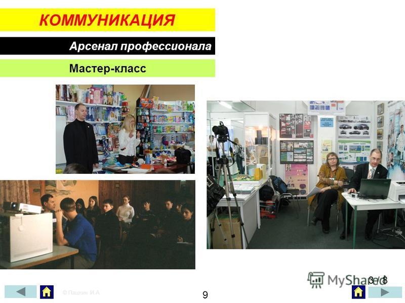 КОММУНИКАЦИЯ Арсенал профессионала Мастер-класс 3 / 8 © Пашкин И.А. 9