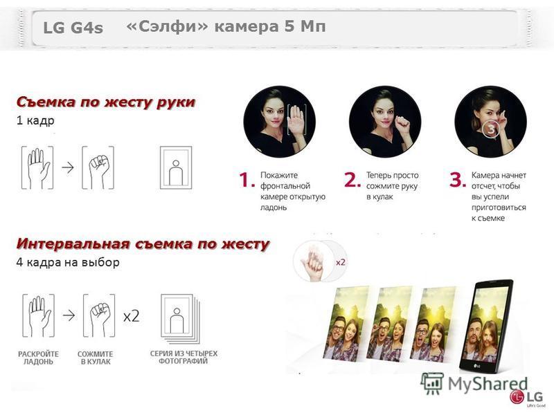 LG G4s «Сэлфи» камера 5 Мп