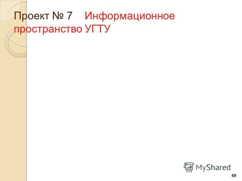 69 Проект 7 Информационное пространство УГТУ