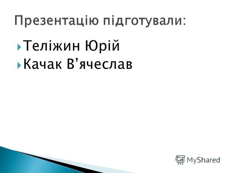 Теліжин Юрій Качак Вячеслав
