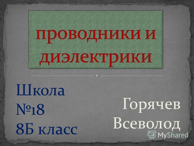 Горячев Всеволод Школа 18 8Б класс
