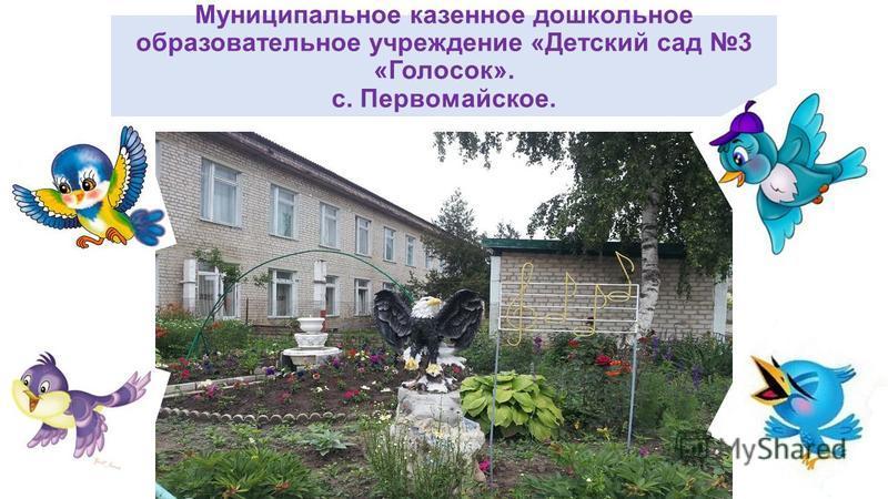 Муниципальное казенное дошкольное образовательное учреждение «Детский сад 3 «Голосок». с. Первомайское.