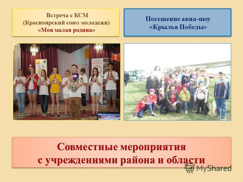 Встреча с КСМ (Красноярский союз молодежи) «Моя малая родина» Посещение авиа-шоу «Крылья Победы»