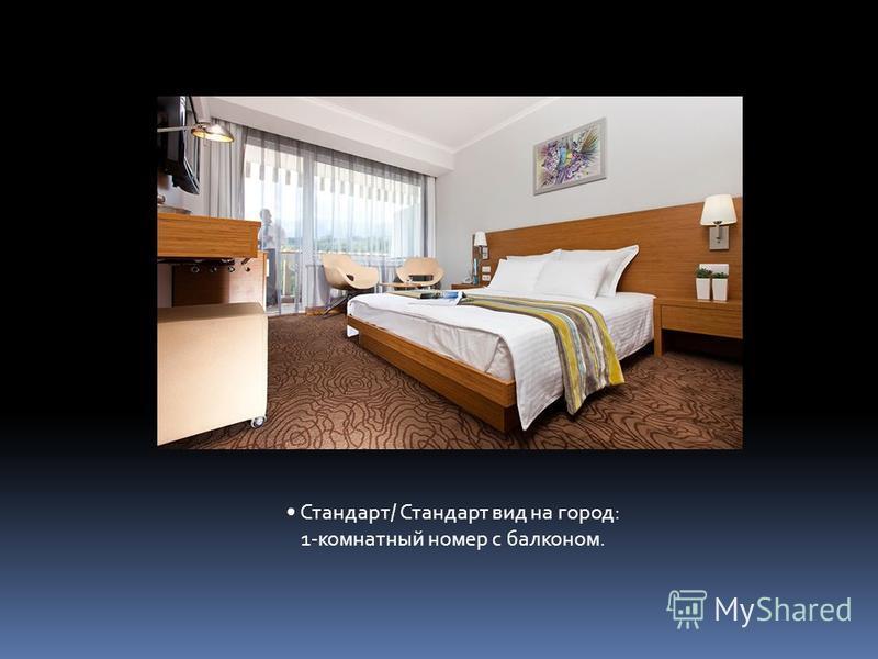 Стандарт/ Стандарт вид на город: 1-комнатный номер с балконом.