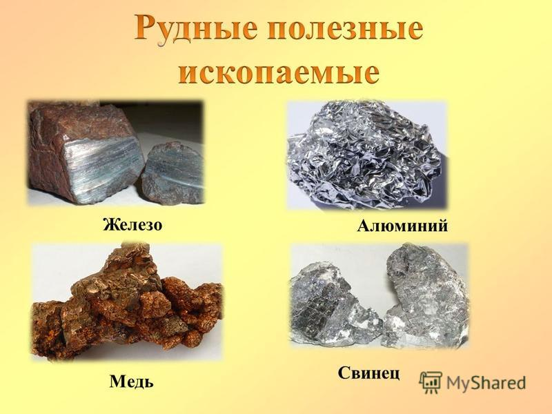 Железо Алюминий Медь Свинец
