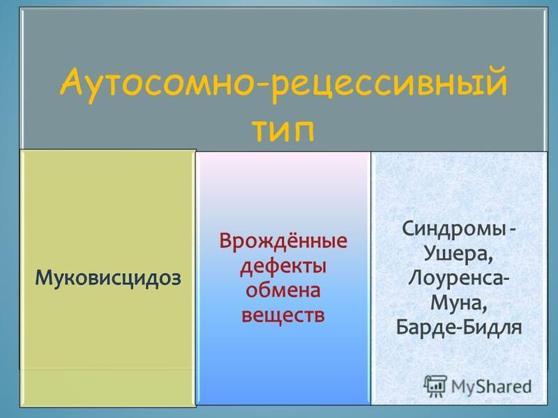 Аутосомно-рецессивный тип