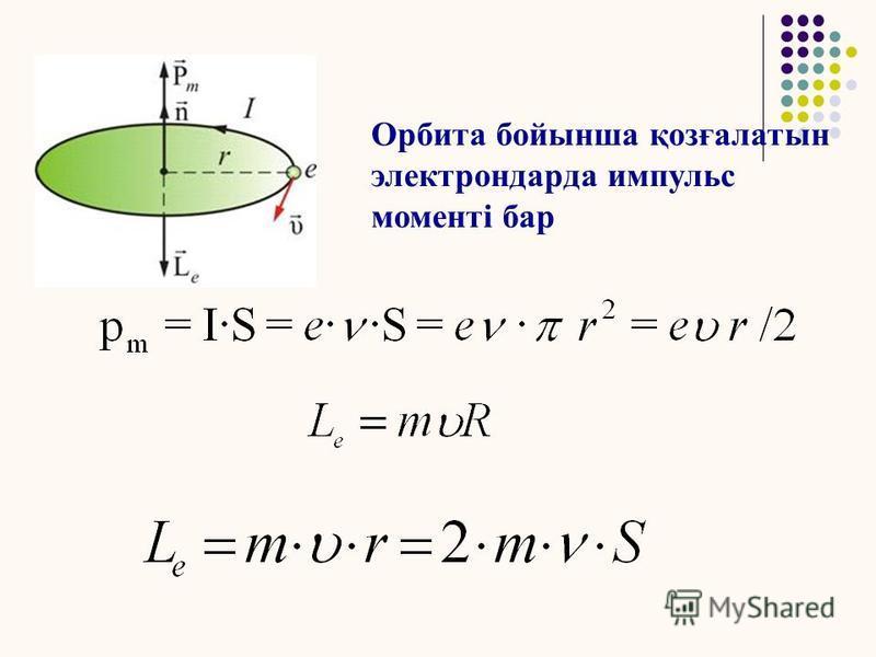 Магнетиктер – магниттік қасиеттері бар денелер. Ампер гипотезасы. Магнит өрісіндегі электрон қозғалысы.