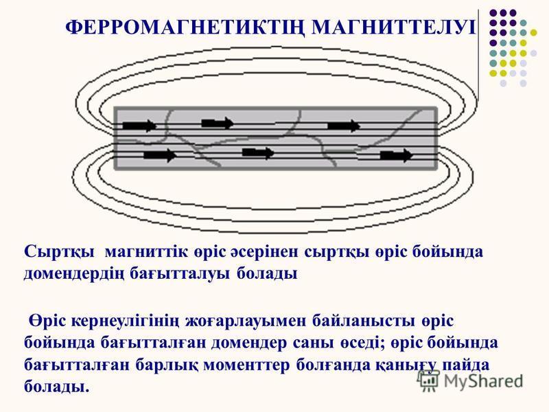 ФЕРРОМАГНЕТИК Кездейсоқ магниттелу ауданы - домен