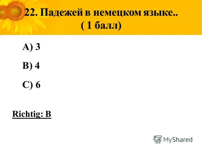 A) 3 B) 4 C) 6 Richtig: B