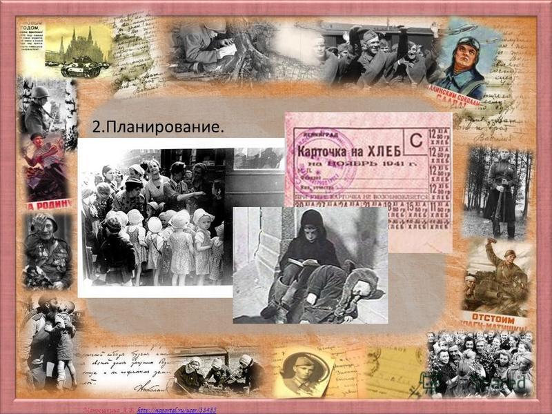 Матюшкина А.В. http://nsportal.ru/user/33485http://nsportal.ru/user/33485 2.Планирование.