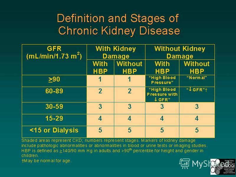 Definition and Stages of Chronic Kidney Disease