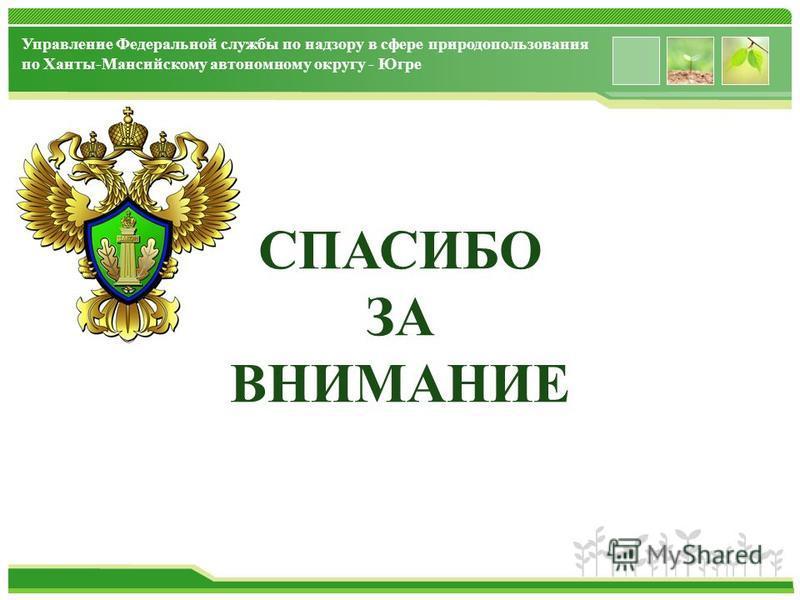 www.themegallery.com Управление Федеральной службы по надзору в сфере природопользования по Ханты-Мансийскому автономному округу - Югре СПАСИБО ЗА ВНИМАНИЕ