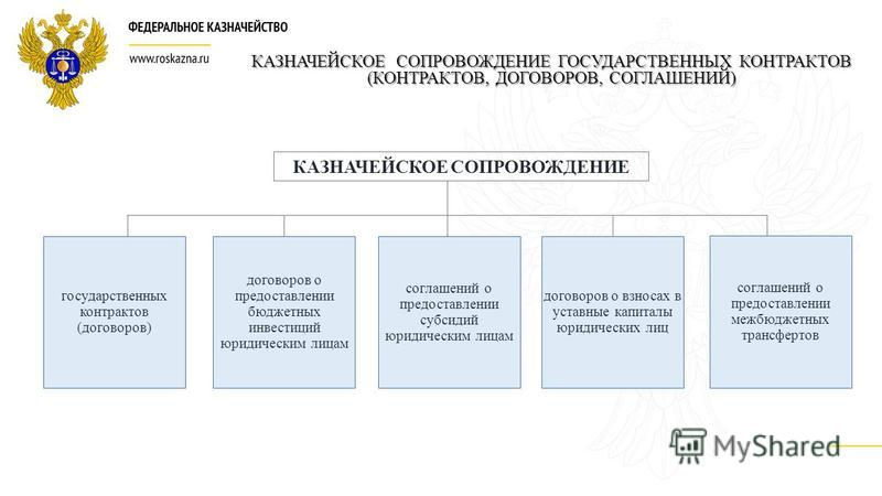 КАЗНАЧЕЙСКОЕ СОПРОВОЖДЕНИЕ ГОСУДАРСТВЕННЫХ КОНТРАКТОВ (КОНТРАКТОВ, ДОГОВОРОВ, СОГЛАШЕНИЙ) КАЗНАЧЕЙСКОЕ СОПРОВОЖДЕНИЕ договоров о предоставлении бюджетных инвестиций юридическим лицам соглашений о предоставлении субсидий юридическим лицам договоров о