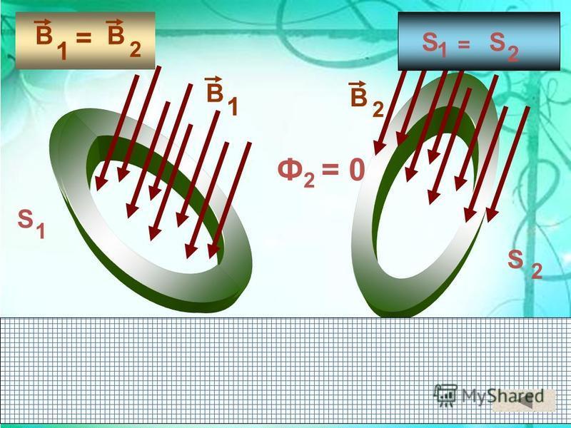 В 1 В 2 = S 2 S 1 = В 2 В 1 S 1 S 2 Ф 2 = 0
