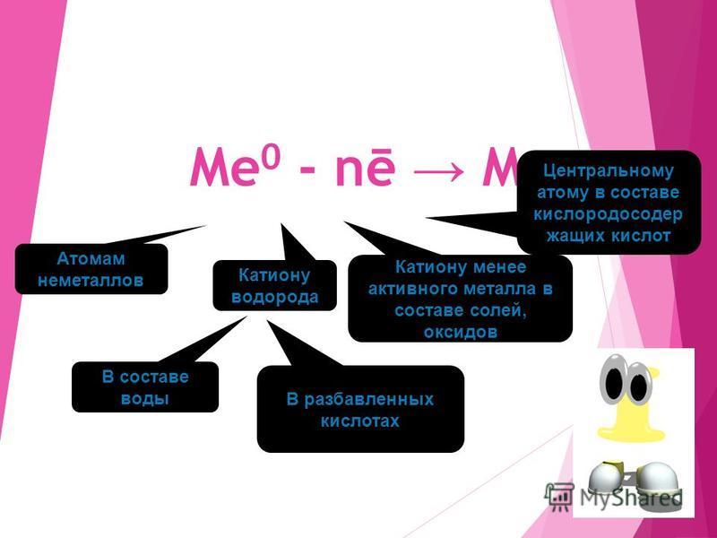 На пример: Na 0 - 1ē Na +1 Al 0 - 3ē Al +3