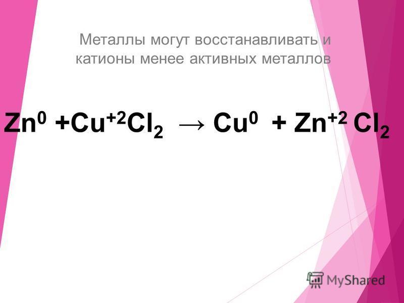 Zn + 2HCl ZnCl 2 + H 2 Li K Ca Na Mg Al || Zn Cr Fe Ni Pb || (H 2 ) Cu Hg Ag Вытесняют H 2 из растворов кислот (кроме HNO 3 ) Не вытесняют H 2 из растворов кислот